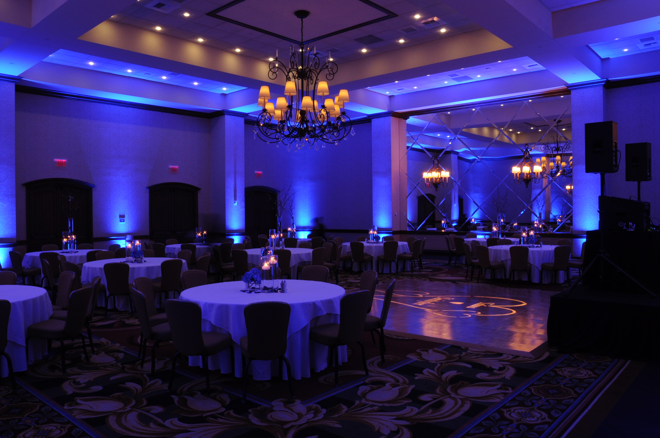Dallas Wedding Uplighting Wireless Led